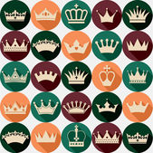 Crowns pattern — Stock Vector