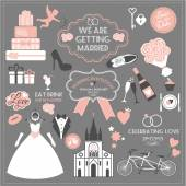 Wedding icons set — Stockvektor