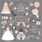 Wedding icons set — Stock vektor