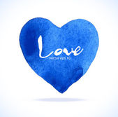 Blue heart — Stock Vector