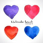 Färg hjärtan — Stockvektor
