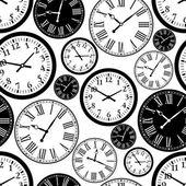 Clocks pattern — Stock Vector