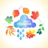 Autumn  illustration of nature — Vector de stock