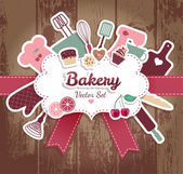 Bakery and sweets — Stock Vector