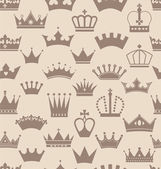 Seamless crowns pattern — Vector de stock