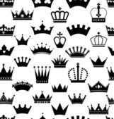 Seamless crowns pattern — Stock Vector