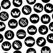 Crowns seamless pattern — Vector de stock