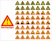 Warning signs symbol. — Stock Vector