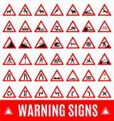 Warning signs symbol. — Vector de stock