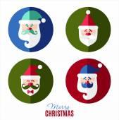 4 Santa characters — Stock Vector