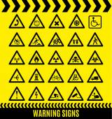 Warning signs set. — Stock Vector