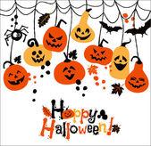 Halloween background of pumpkins. — Stock Vector