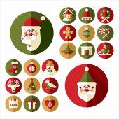 Christmas design icons set. — Stock Vector