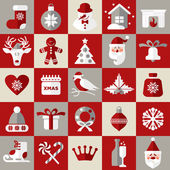 Christmas design icons set — Vector de stock