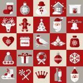Christmas design icons set — Stock Vector
