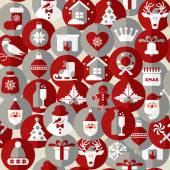 クリスマスのシームレスなパターン. — ストックベクタ