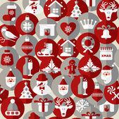 Seamless pattern di Natale. — Vettoriale Stock