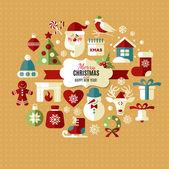 Christmas design icons set. — Vetorial Stock