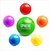 Colorful 3d Spheres — ストックベクタ