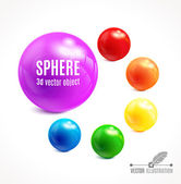 Colorful 3d Spheres — Vettoriale Stock