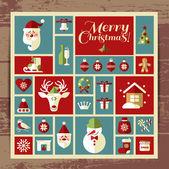 Christmas and new year background. — Stockvektor