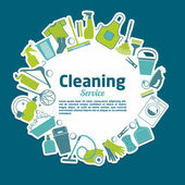 Cleaning service — Stock Vector