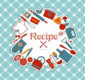 Recept illustratie — Stockvector
