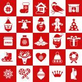 Christmas design icons set — Stock Vector