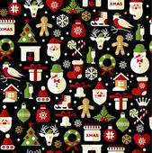 Christmas seamless pattern of icons. — Stock Vector