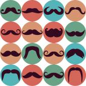 Design  Moustaches set. — Stock Vector