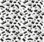 Crowns Retro pattern — Stock Vector