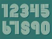 Set of retro numbers. — Stock Vector