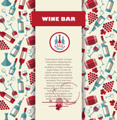 Wine menu card. — Stock Vector