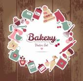 Bakery and sweets background — Stock Vector