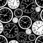 Klockan seamless mönster — Stockvektor