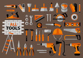 Buildings tools icons set. — Stock Vector