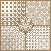 Seamless Islamic patterns — Stock Vector