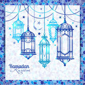 Islamic Ramadan Kareem — Stock Vector