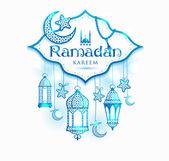 Tebrik kartı Ramazan kareem — Stok Vektör