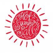 Venda quente de verão — Vetor de Stock