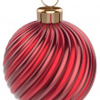 Christmas ball New Year bauble decoration red sphere — Stock Photo #59751945