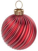 Christmas ball New Year bauble decoration red sphere — Foto de Stock