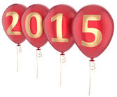 Happy New Year 2015 balloons party decoration — Stock Photo