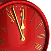 Happy New Year alarm clock bauble — Stock Photo