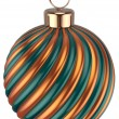 Christmas ball bauble New Years Eve decoration gold green — Stock Photo #60110317