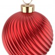 Christmas ball Happy New Year bauble red decoration sphere — Stock Photo #60110651