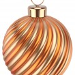 Christmas ball New Years Eve bauble decoration orange gold — Stock Photo #60111079