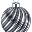 New Years Eve bauble decoration Christmas ball silver black — Stock Photo #60111497