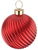 Christmas ball Happy New Year bauble red decoration sphere — Stock Photo