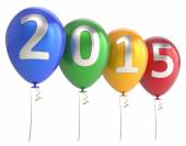 New Year 2015 balloons party holiday decoration — Stock Photo